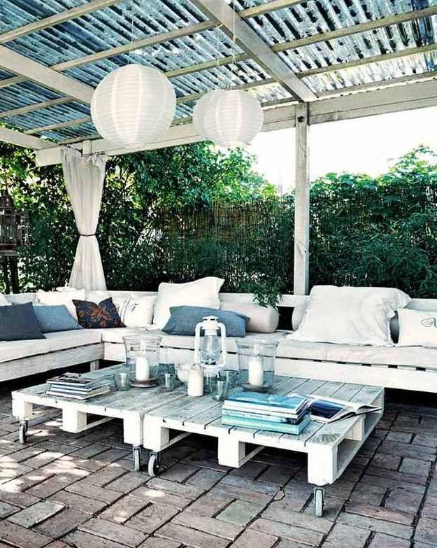 Terrassenmöbel Aus Europaletten terrasseneinrichtung mit diy terrassenmöbeln aus paletten | pallet's