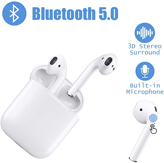 Amazon Com Bluetooth 5 0 Headset Earbuds Headphones Built In Microphone And Charging Box 3d High Definition Stereo Noise Reducti In 2020 Headphones Earbuds Bluetooth