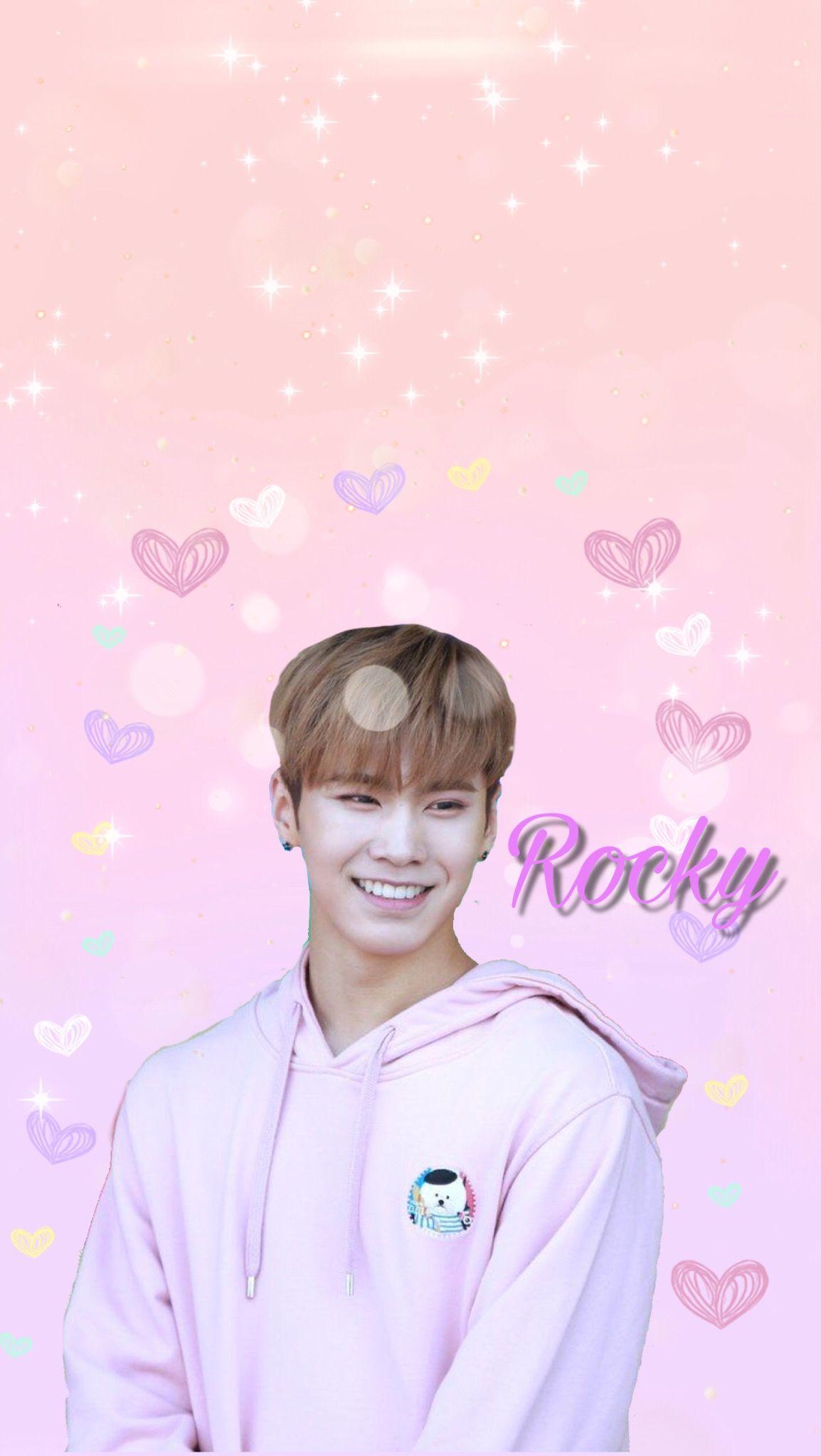 Freetoedit Rocky Astro Kpop Wallpaper Pink Music Bias