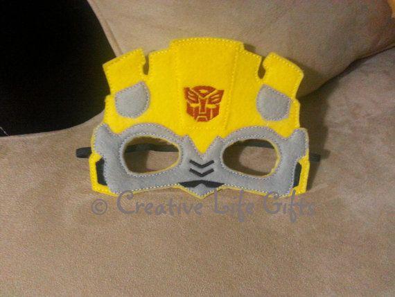 Imagenes Mascaras De Transformer: Bumblebee Inspired Transformer Felt Mask