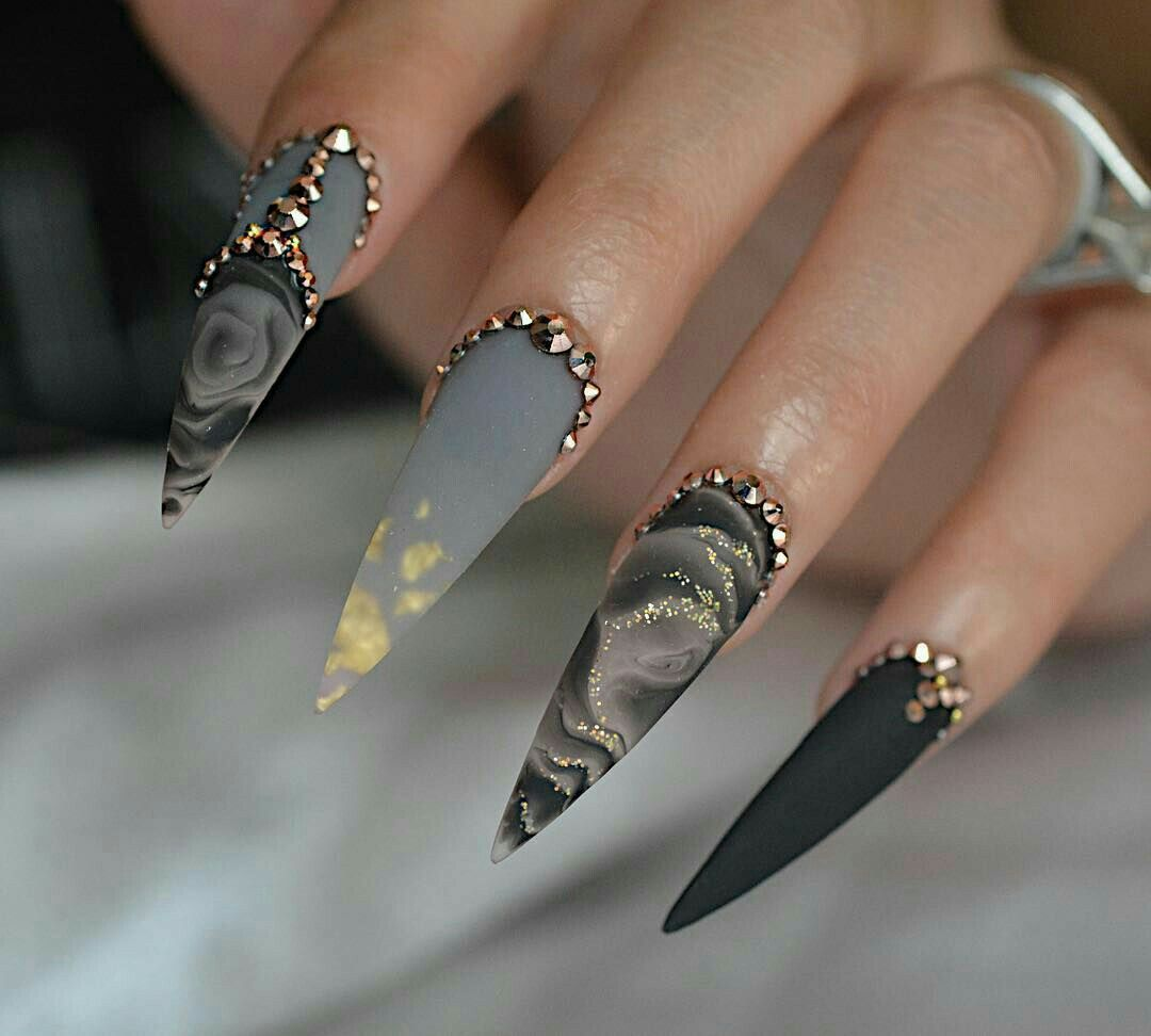 Pin By Colormeelle On Nails Stiletto Nail Art Stiletto Nails
