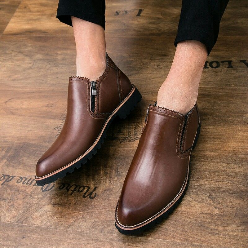 2b13750acc5a US  28.03 New Autumn Winter Steampunk Men Ankle Boots Vintage Style Casual  Shoes High-Cut