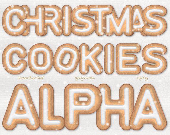 Gingerbread Cookies Alphabet Clipart Clip Art Christmas Cookie