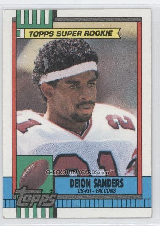 Deion Sanders Rookie Card Football Cards Football Trading Cards Atlanta Falcons Football