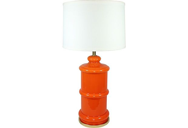Orange Glass Lamp Base On Onekingslane Com Glass Lamp Base Lamp Glass Lamp