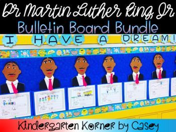 Dr Martin Luther King Jr Bulletin Board Set Craft Writing K 1 2