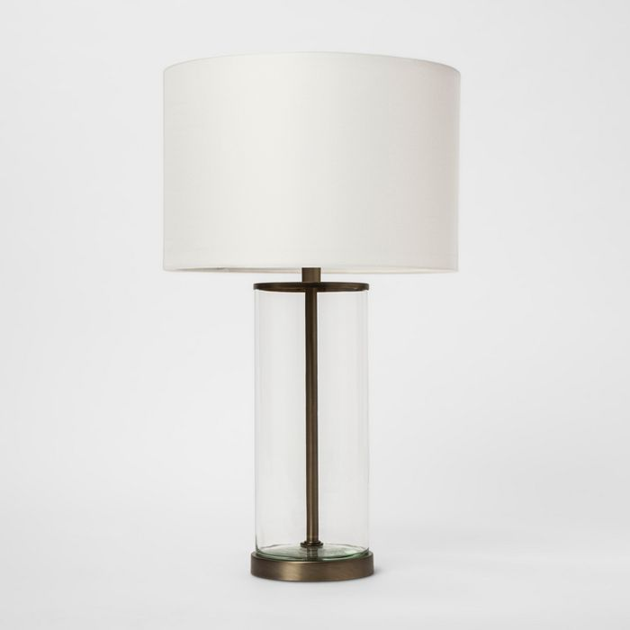 Usb Fillable Accent Table Lamp Brass Project 62 In 2020 Brass Table Lamps Table Lamp Lamp