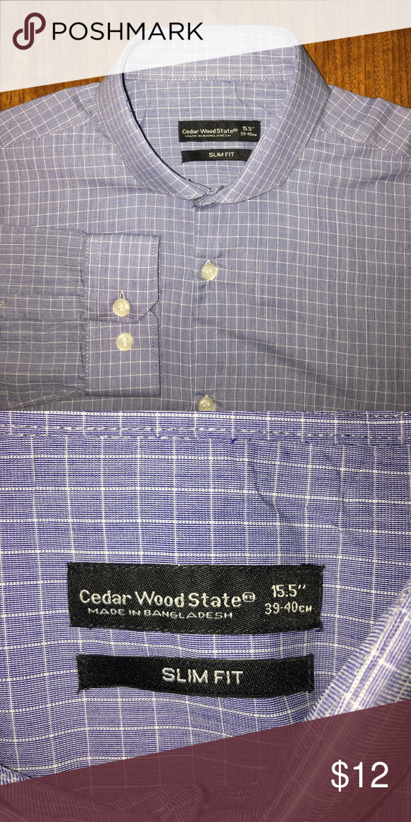 d1bebf2a Cedar Wood State slim fit shirt Cedar Wood State slim fit shirt, sleeve  length 33