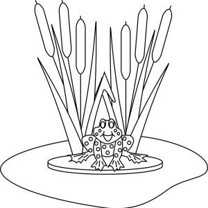 Frog Jump To Pond After Sit On Lily Pad Coloring Page Lily Pads Coloring Pages Lily