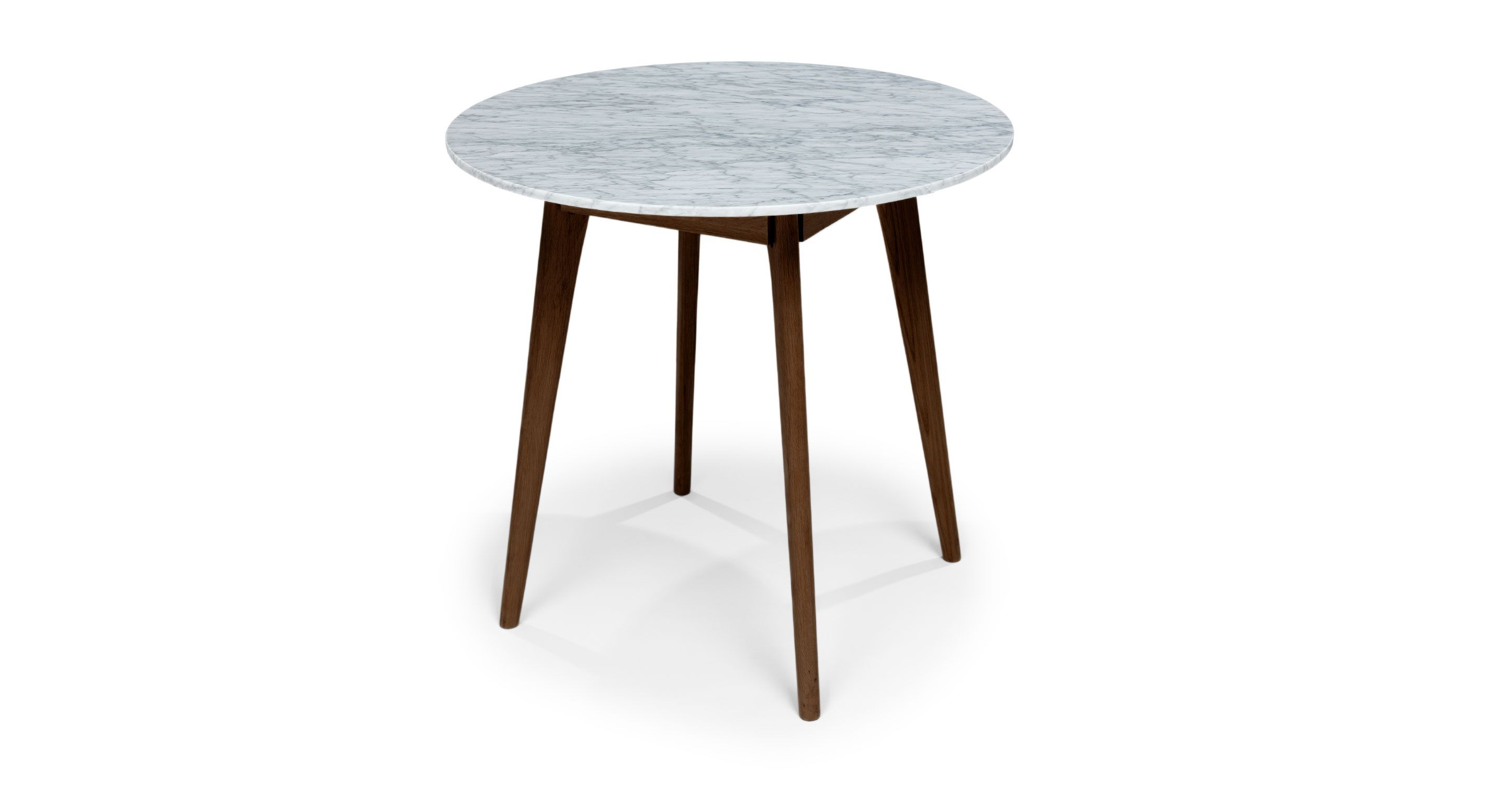 Mara Walnut Cafe Table, Round   Dining Tables   Article | Modern,  Mid Century And Scandinavian Furniture