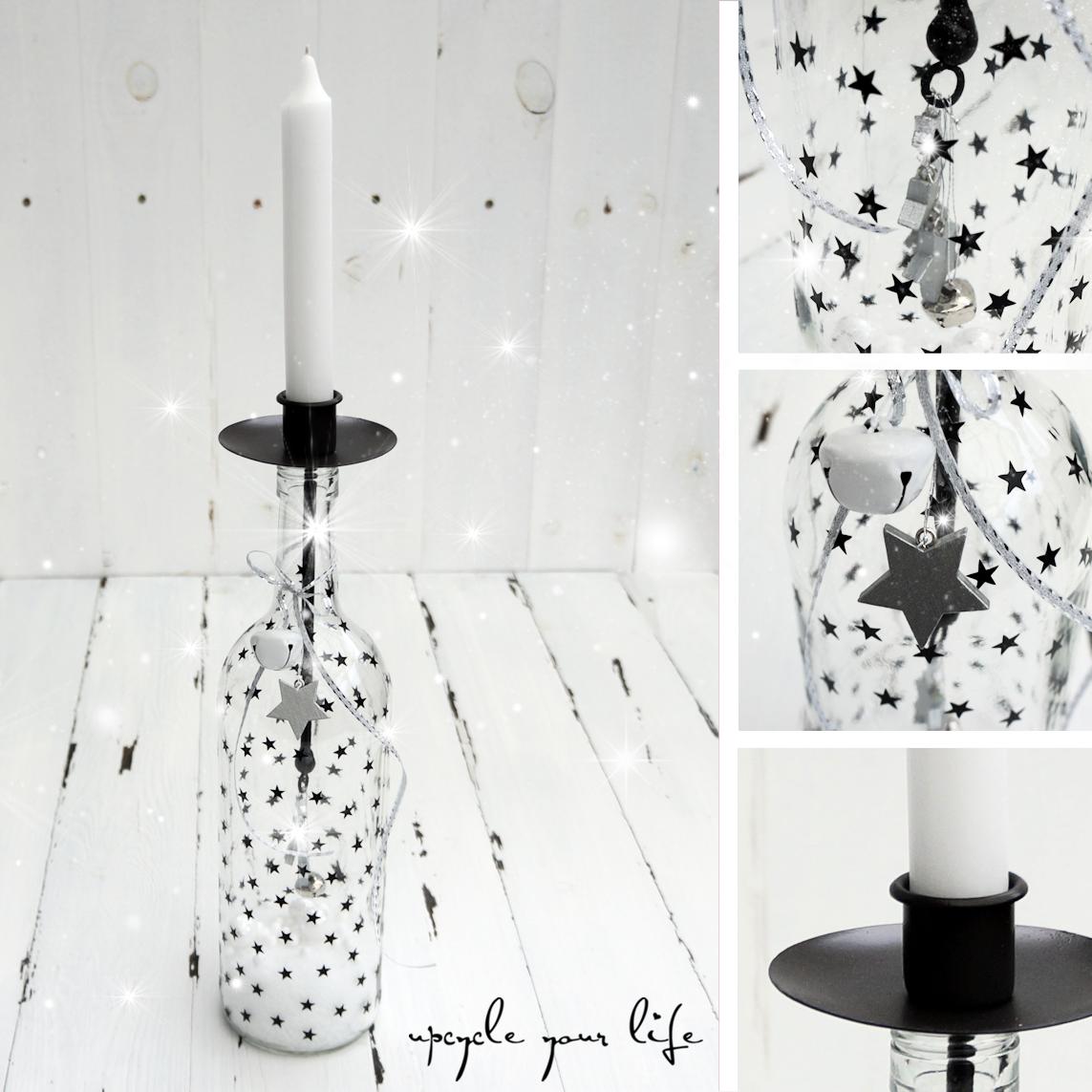 pin von upcycleyourlife auf weihnachtszauber flasche. Black Bedroom Furniture Sets. Home Design Ideas