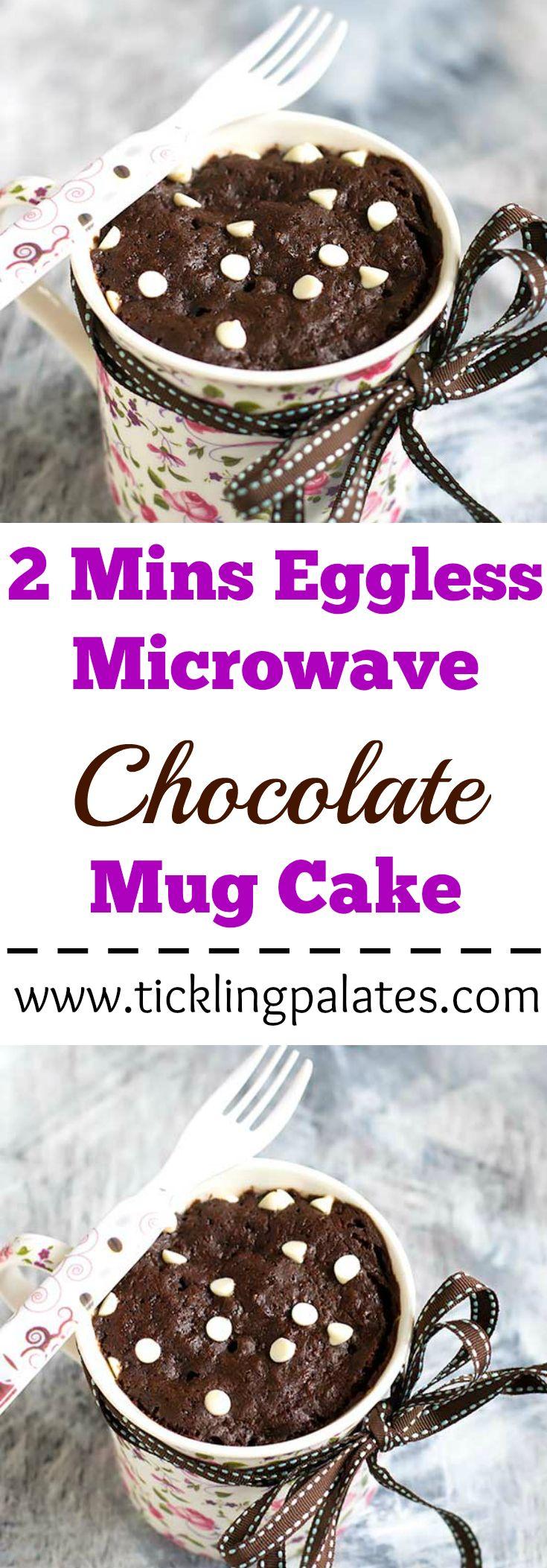 2 mins eggless microwave chocolate mug cake microwave