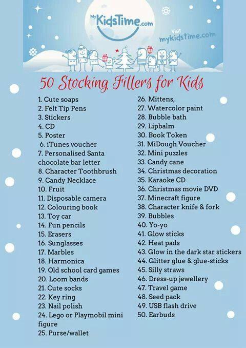 Kids Stocking Stuffer Ideas Christmas Stocking Fillers Christmas Stockings Christmas Stocking Stuffers
