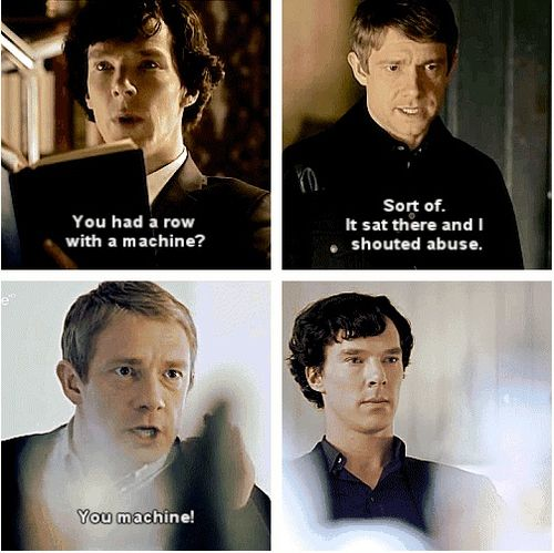 Not to undercut the brilliance that is Martin Freeman in the role of John Watson, but this is very funny