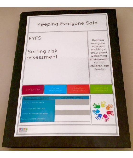 Setting Risk Assessment Folder - As part of managing the health - health safety risk assessment