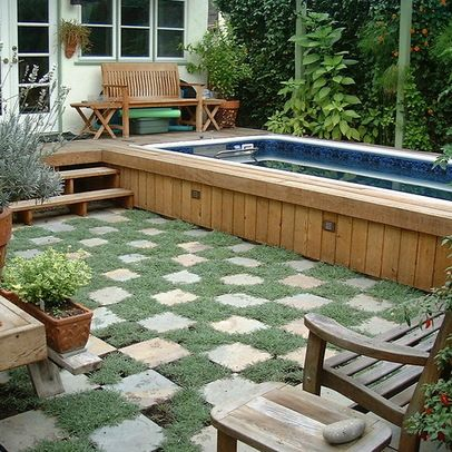 Landscape above ground pool design ideas pictures - Above ground pools for small backyards ...