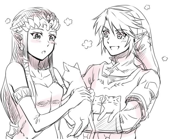 The Legend of Zelda: Twilight Princess, Link and Princess Zelda / 「ゼルダログ」/「サイバ」のイラスト [pixiv] [22]