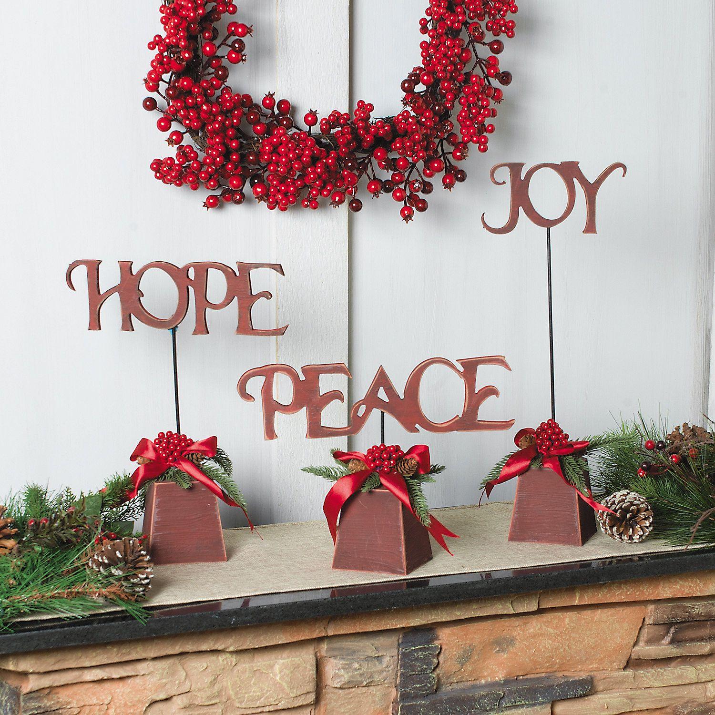 Hope , Peace & Joy Tabletoppers  Terrysvillagecom