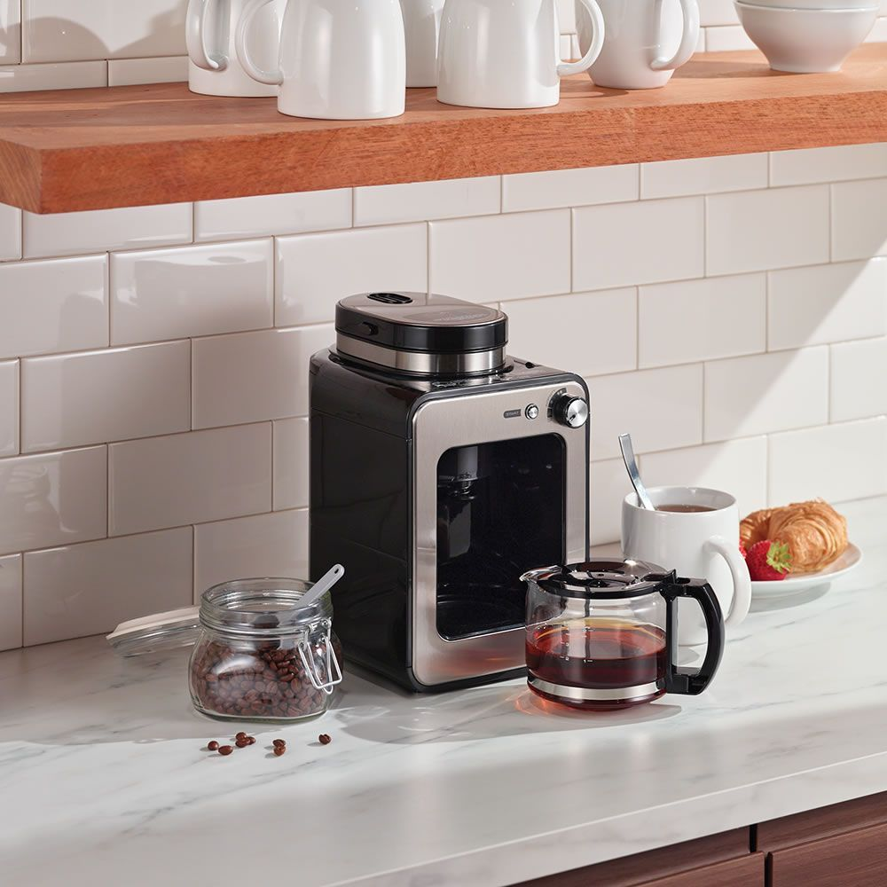 The Compact Grind And Brew Coffee Maker Hammacher