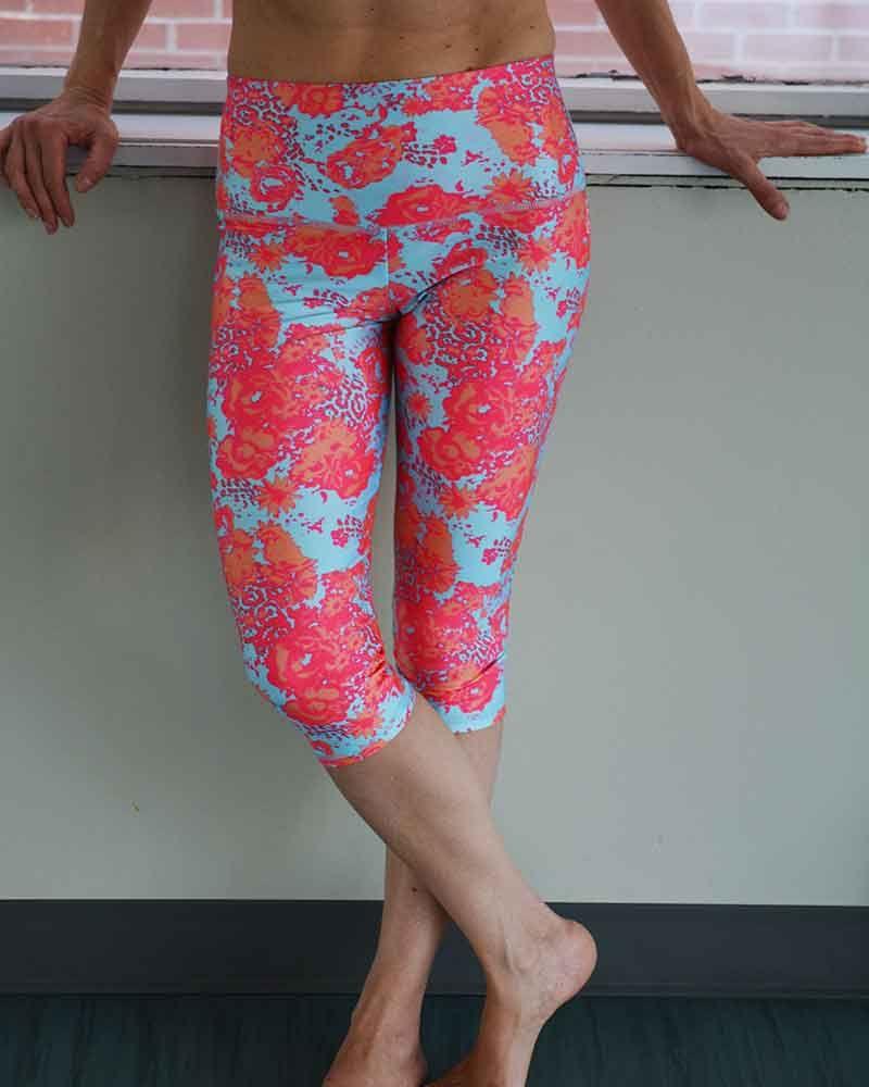 03082c8e097c8 Sweat-n-Stretch Boogie high waisted capris-Prints | Hot yoga pants ...