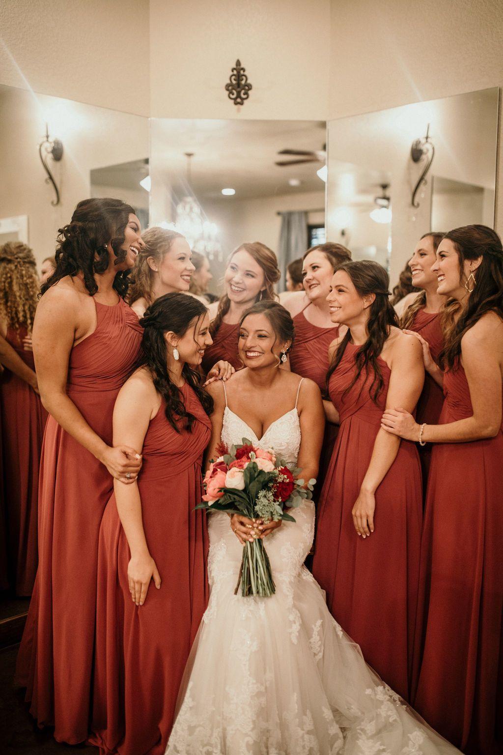 Wedding Venue Tulsa Oklahoma Fall wedding bridesmaids