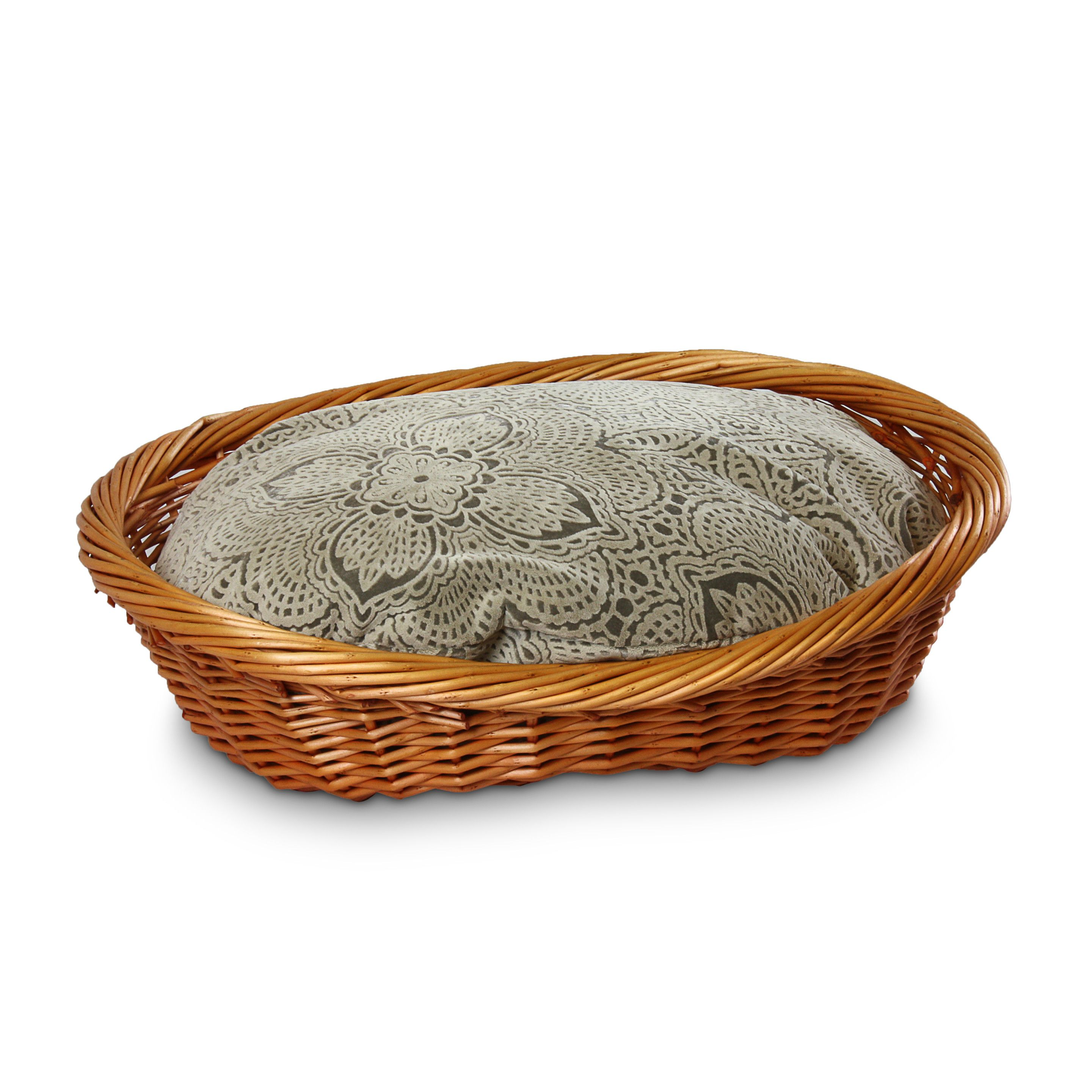 You'll love the Luxury Wicker Dog Basket and Bed at
