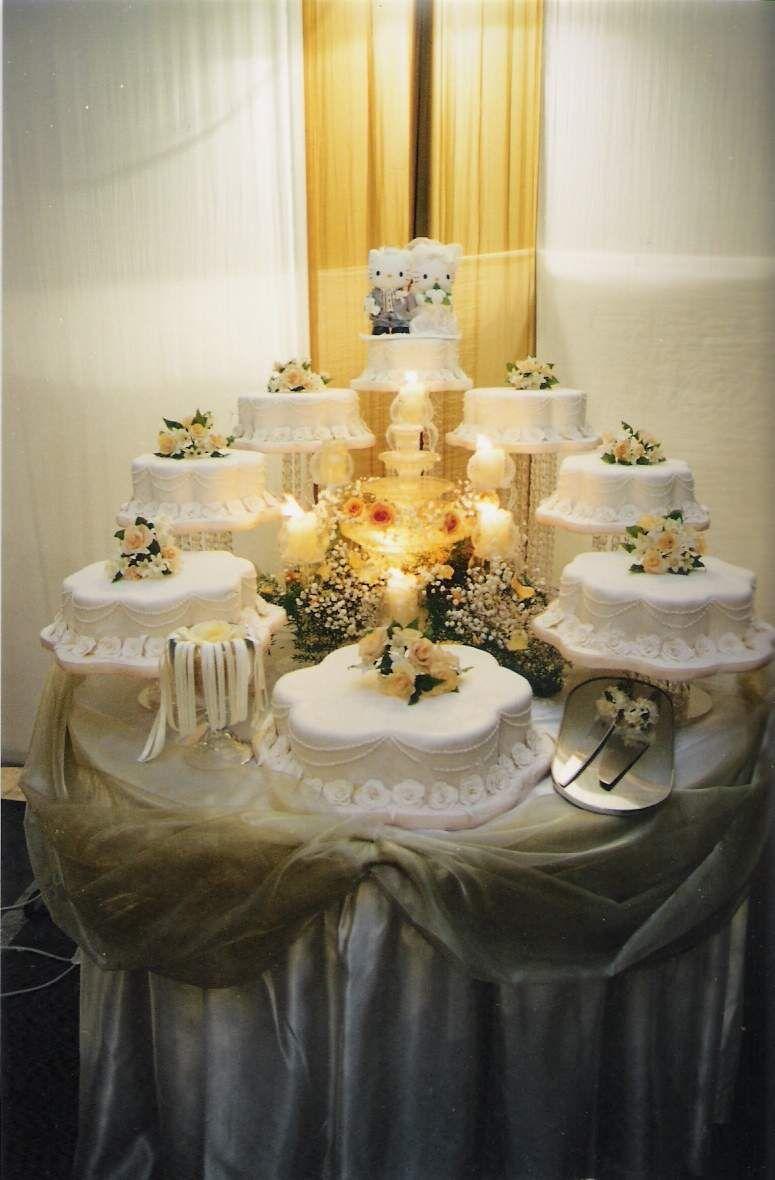 pasteles de boda elegantes con fuente - Buscar con Google | boda ...