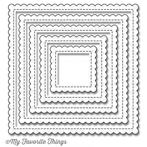 My Favorite Things STITCHED MINI SCALLOP SQUARE STAX Die-Namics MFT806