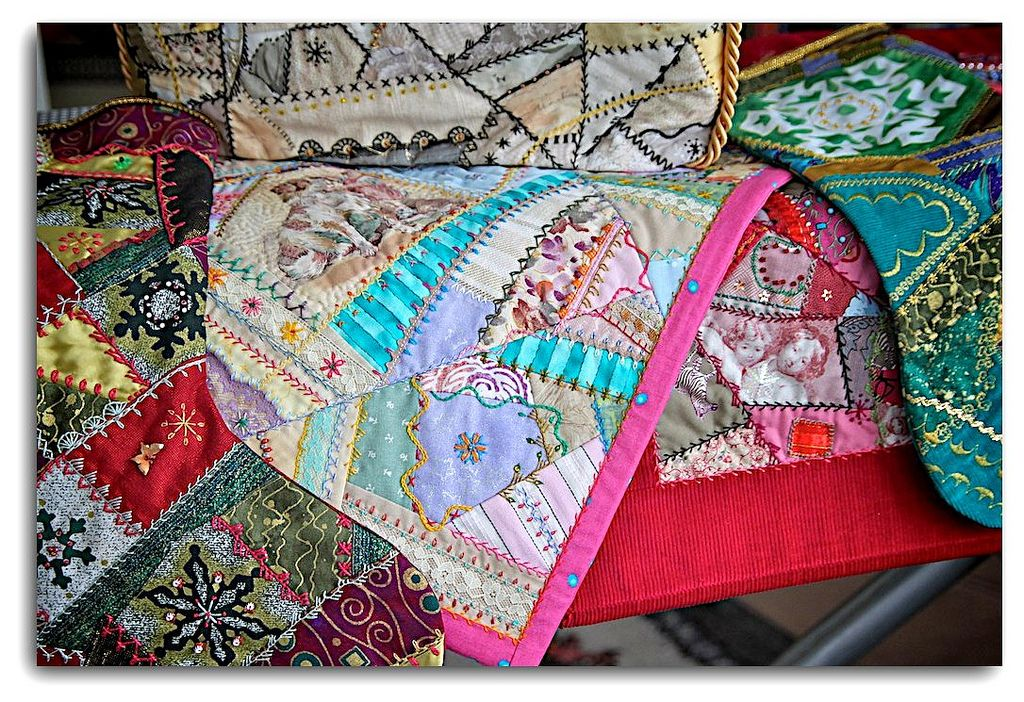 some Crazy Quilting...with a bonus link ! | by bevcraigwhite