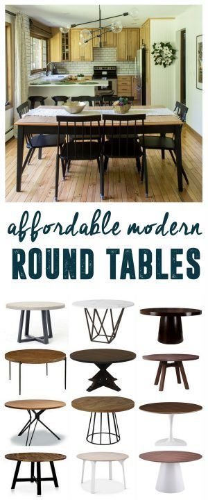 Affordable Modern Round Tables Circular Mid Century Table