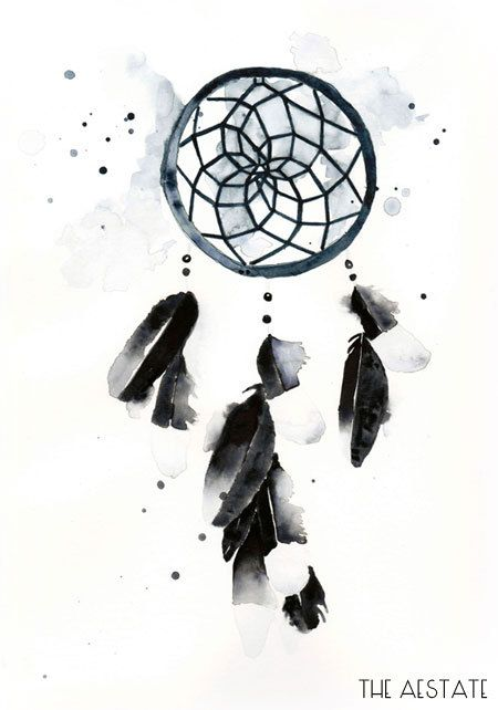 Indigo Dreamcatcher Watercolor Print 11 x 14 by THEAESTATE on Etsy, $29.00
