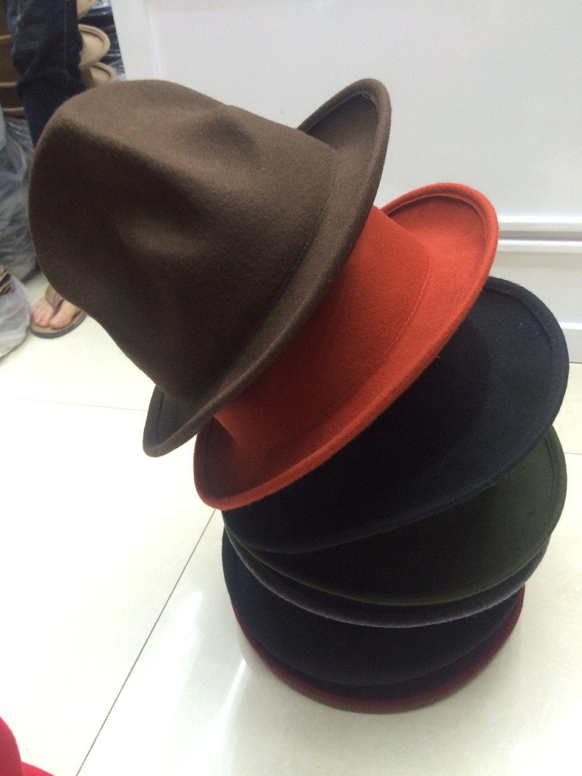 21d1024902ffd 100% Wool Women Men Vivianwestwood Fedora hat Mountain Hat Pharrell  Steampunk Hat Mad Hatter Millinery