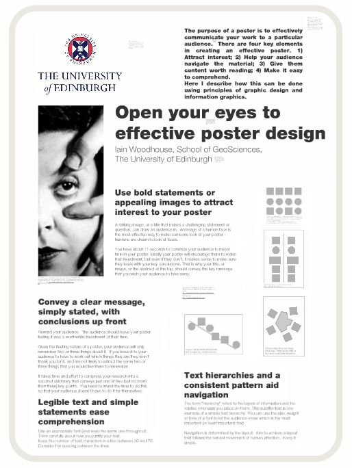 u0026quot the art of the scientific poster u0026quot  by iain woodhouse