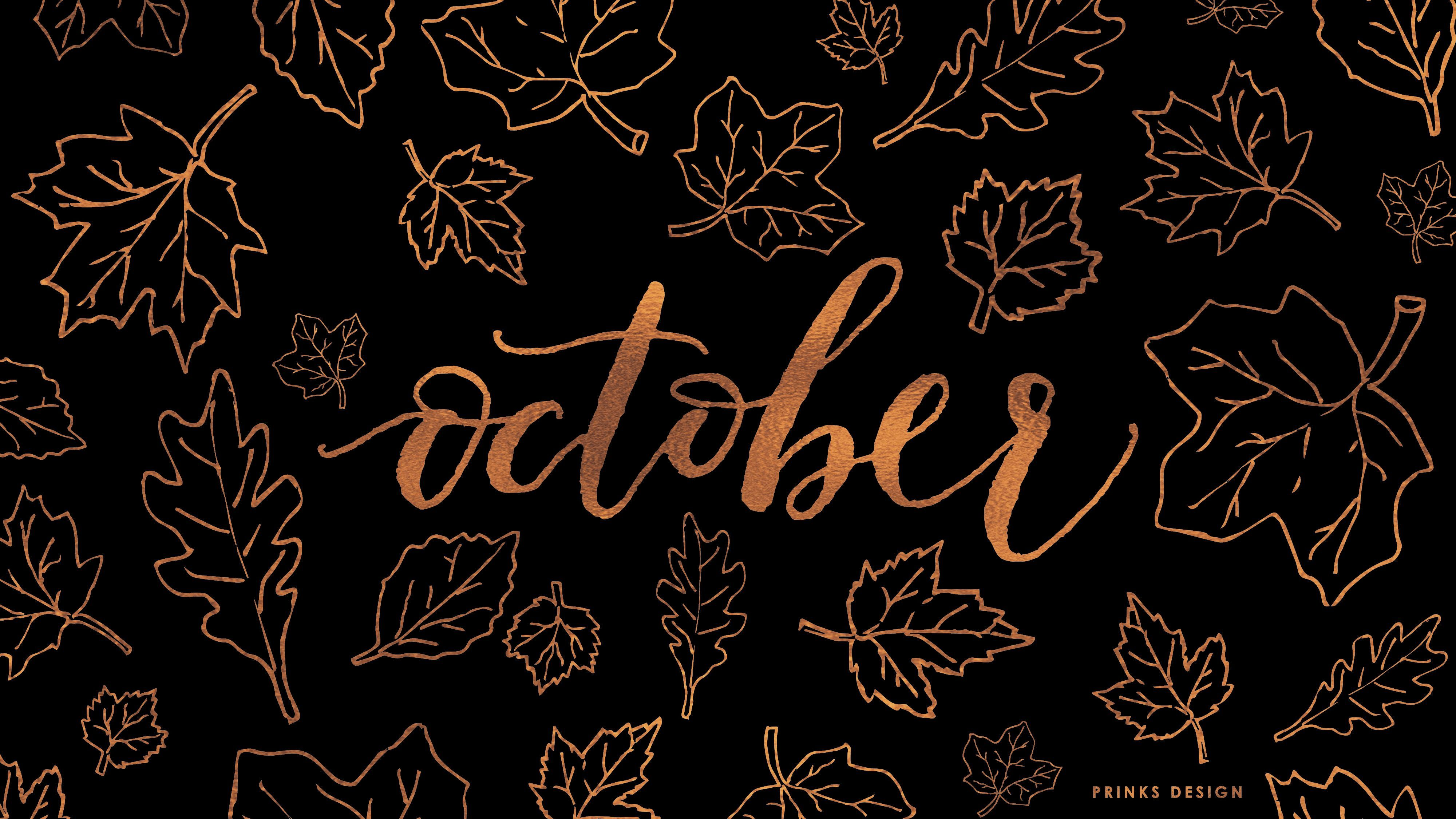 October Wallpaper Octoberwallpaperiphone October Wallpaper October Wallpaper Desktop Wallpaper Fall Halloween Desktop Wallpaper
