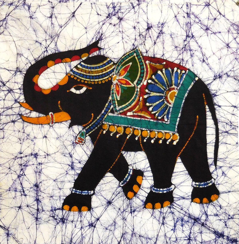 Royal Elephant - Batik Painting In 2020