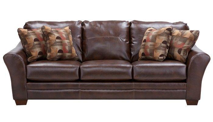 Slumberland furniture brockport collection brown sofa - Slumberland living room furniture ...