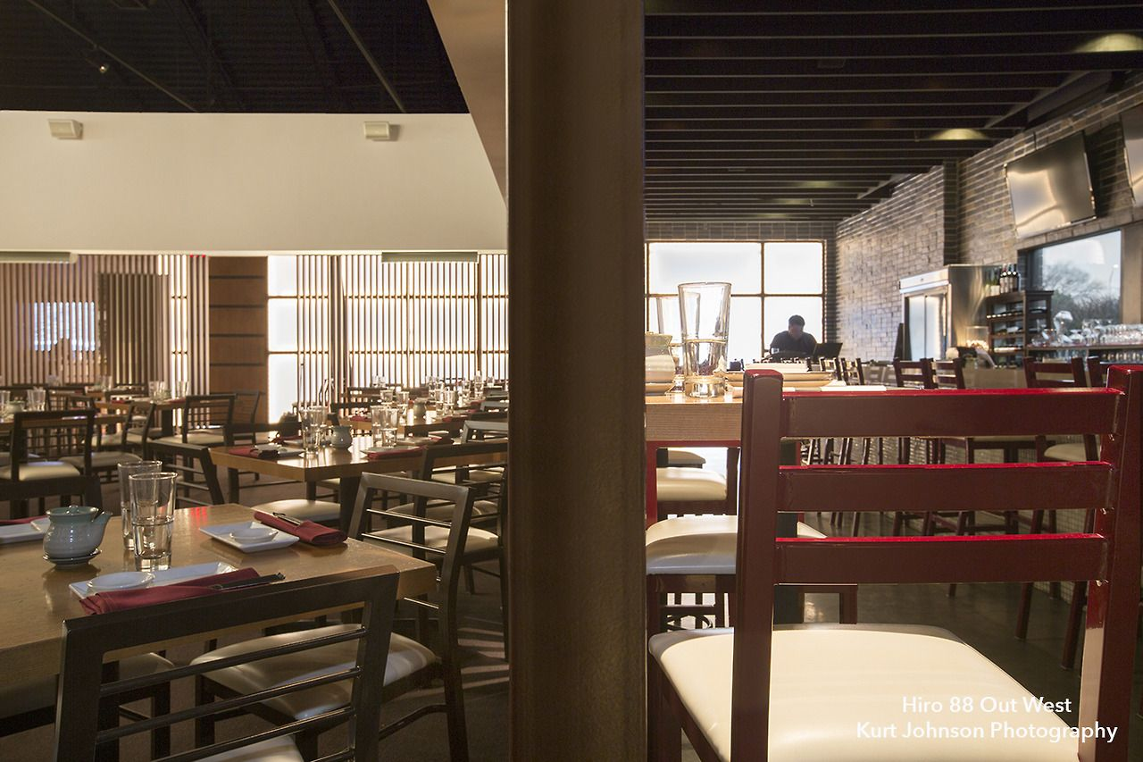 Main dining room and bar area at Hiro 88 in West Omaha, Nebraska. http://www.kurtjohnsonphotography.com/