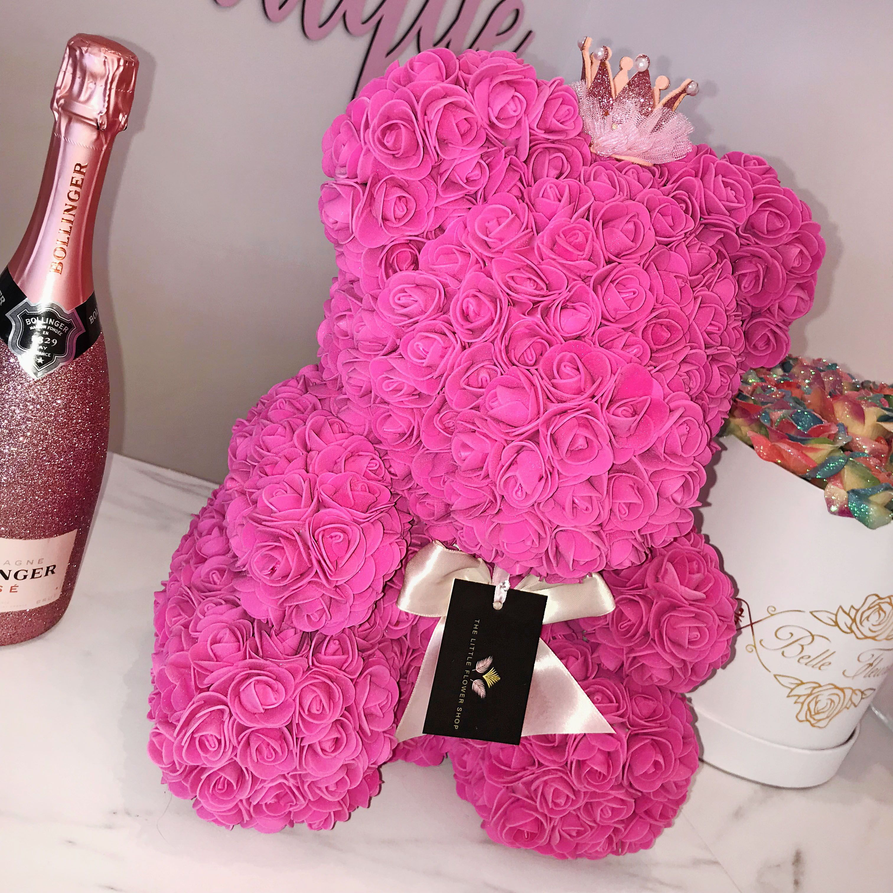Wow This Pink Rose Bear Is Just Incred Pink Boutique Pink Girly Things Party Dresses Online