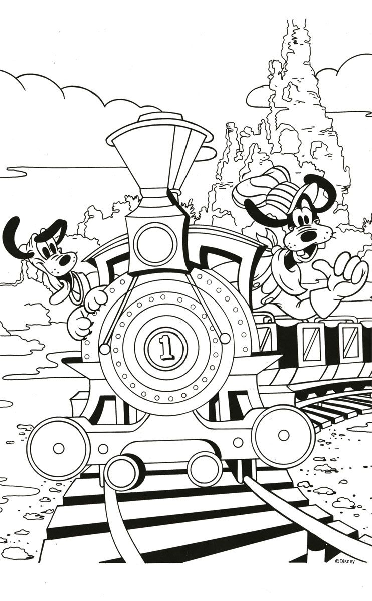 Free Goofy And Pluto Coloring Page Printable Disney Coloring