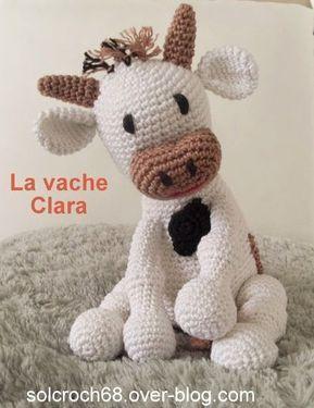 Tuto Vache en laine, tricot et crochet