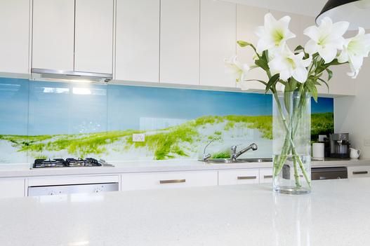 kitchendesign picture safetyglass kche glasrckwand esgglas motiv  Rckwnde aus Glas