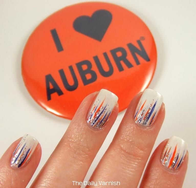 I Heart Auburn Manicureg Auburn Nail Art Pinterest Auburn