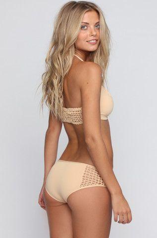 992e240210 Frankie s Bikinis Koa Bottom - The Hanalei Dreams 2015 Collection features  unique crochet details