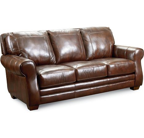 Furniture: Bowden Stationary Leather Sofa By Lane Furniture
