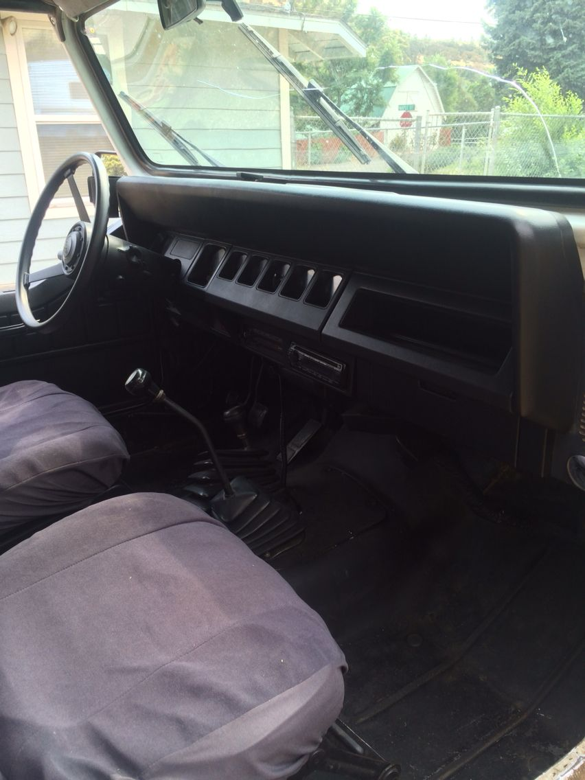 Finished product plastidipped interior jeep yj jeep