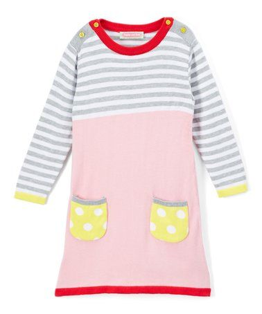 1402bc39b Look what I found on  zulily! Gray Stripe Pocket Sweater Dress ...