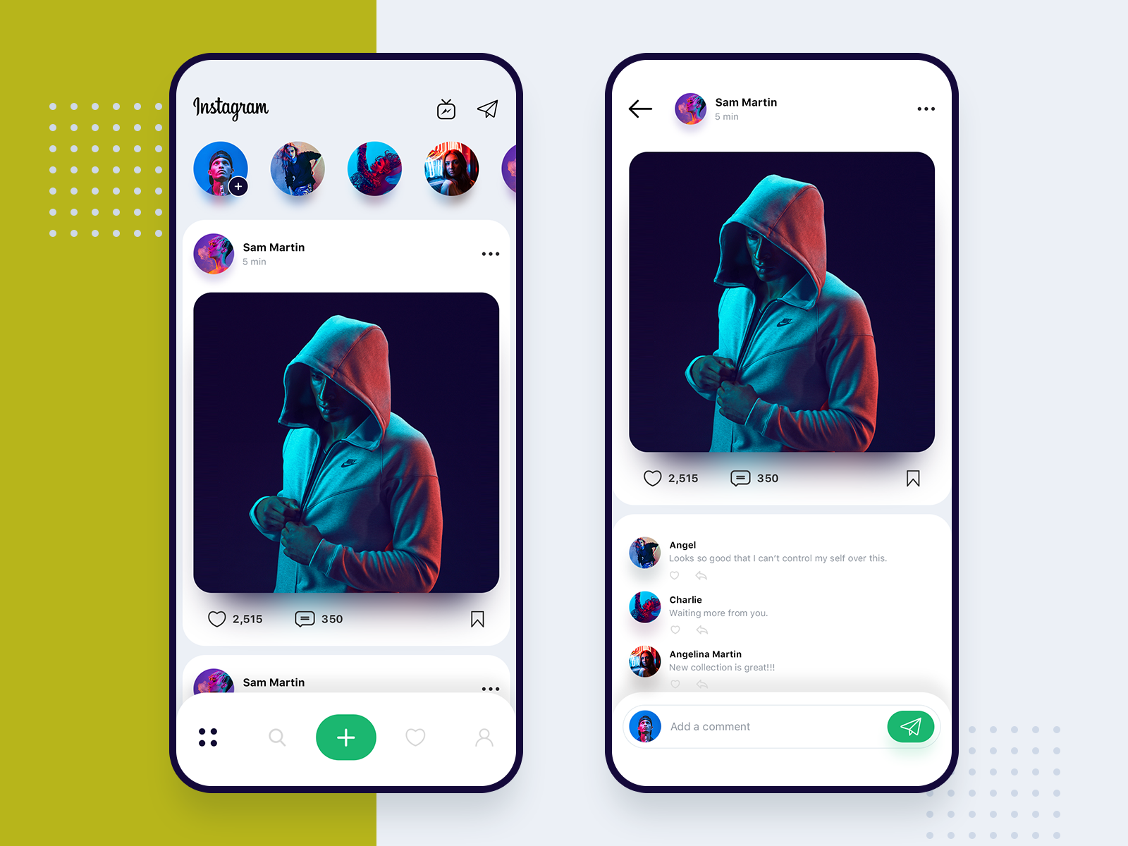 Instagram redesign concept Pop up ads, App design