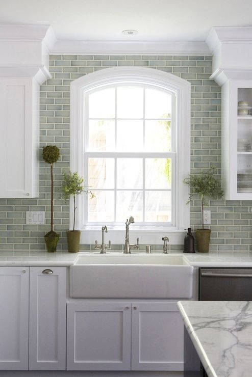 Grey Green Subway Tile Absolutely Love This Kitchen Backsplash