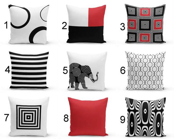 Pin On Black Red White Pillows Cushions