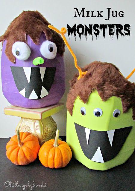 milk jug monsters in 2018 halloween party pinterest halloween